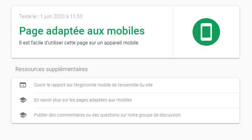site web adapté mobile
