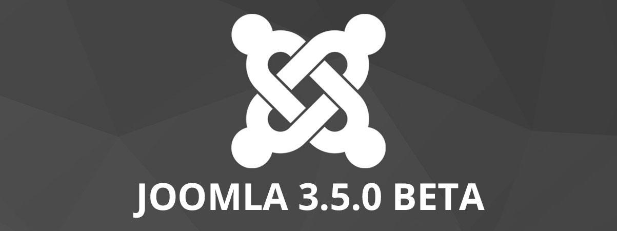 Joomla! 3.5 BETA 1 disponible